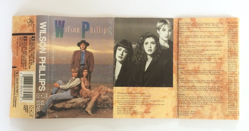 Wilson Phillips - eponymous - vintage tape cassette - vocal group - soft  rock pop music 1990 - Free shipping Canada USA