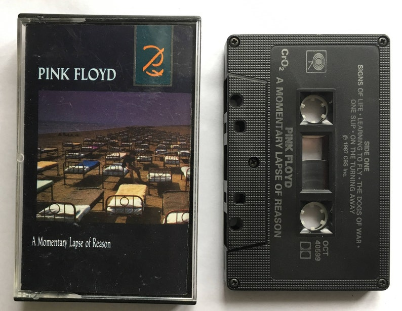 Pink Floyd - A Momentary Lapse of Reason - vintage cassette tape - classic  progressive rock - Roger Waters - 1987 - Free shipping Canada USA