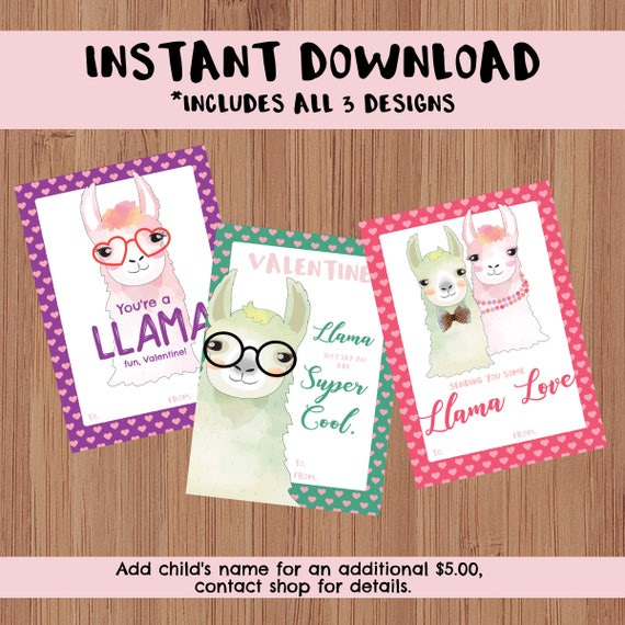 Instant Download Classroom Printable Valentine S Day Cards Kid S