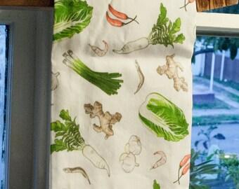 25% Off! Set of 4 Kimchi Pattern Tea Towels/Dish Towels