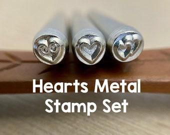 Hearts Metal Stamp Set