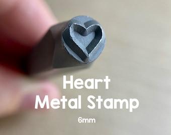 Heart Metal Stamp - 6mm