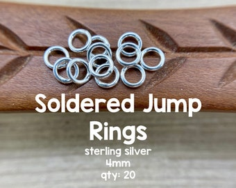 Oakhill Silver Supply JR12 STERLING SIVER Jump Rings Soldered CLOSED 20 gauge 5.5mm 25 Pcs