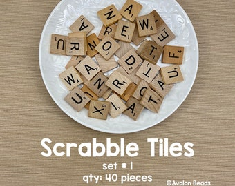 Game Crafts Weddings 300 Wood Scrabble Tiles Red Color 3 Complete Sets