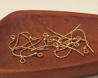 Gold Plated 144 Pieces With Ball Gold Earwires French Earwires