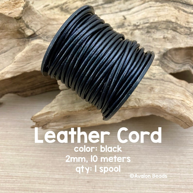 Leather Cord 2mm Black