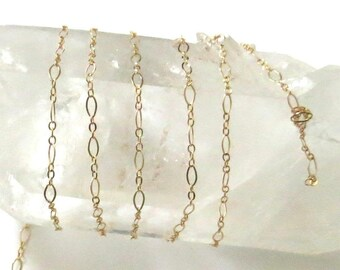 Gold-Filled Chain - Long & Short Links - 4.5x2.5mm - By The Foot