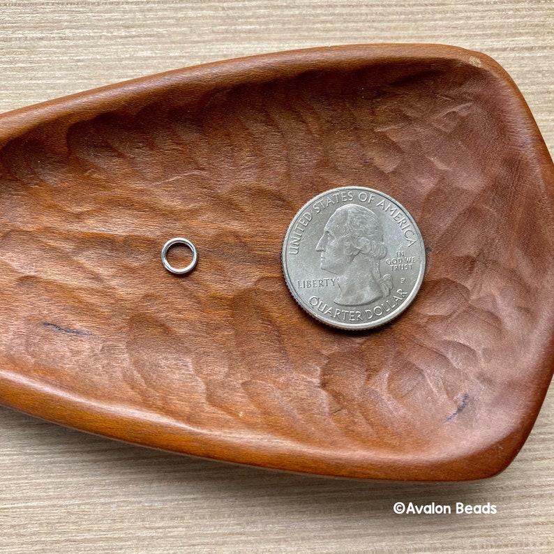 72 Pieces 6mm Soldered Rings Jump Rings 19 Gauge Silver Plate