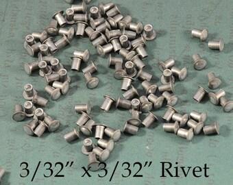 """Aluminum Rivets - 3/32"""" x 3/32"""" - for EZ Rivet Tool System - 100 pieces"""