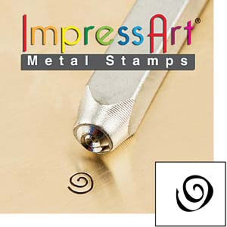 3mm Small Swirling Design Boogie Swirl Metal Stamp ImpressArt