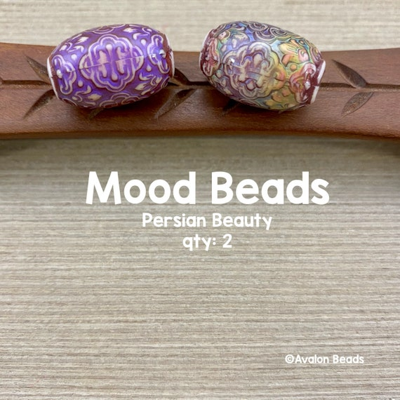 Secret Garden Beads 16mm Cylinder Beads Large Hole Beads Mood Mirage Beads Color Changing Beads 43801 10 Barrel Bead Tube Mood Bead