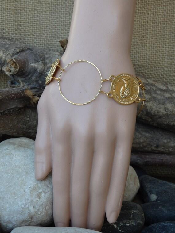 Gold Armband Munze Schmuck Elizabeth Zweite Munze Schmuck Etsy