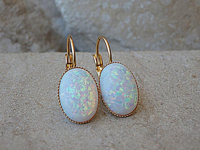 067648ddf074 Bridal White Fire Opal Earrings for Bride Earrings Oval Opal