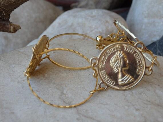 Gold Armband Münze Schmuck Elizabeth Zweite Münze Schmuck Etsy