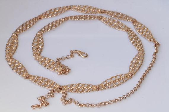 Rose gold belt. Evening metal belt. Wedding belt f