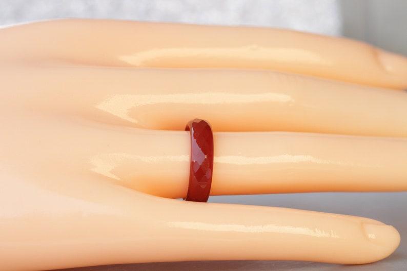 Orange Tones Statement Ring Women/'s Orange Band Ring Gemstone Ring Agate Band Ring Wide Agate Band Ring Orange Ring Orange Agate Ring
