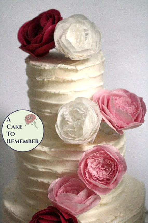 2 5 3 Wafer Paper Flower Rose For Cake Decorating Or Mothers Day