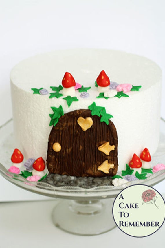 Fairy Door Cake Decorating Kit For Fairy Birthday Cakes And Etsy