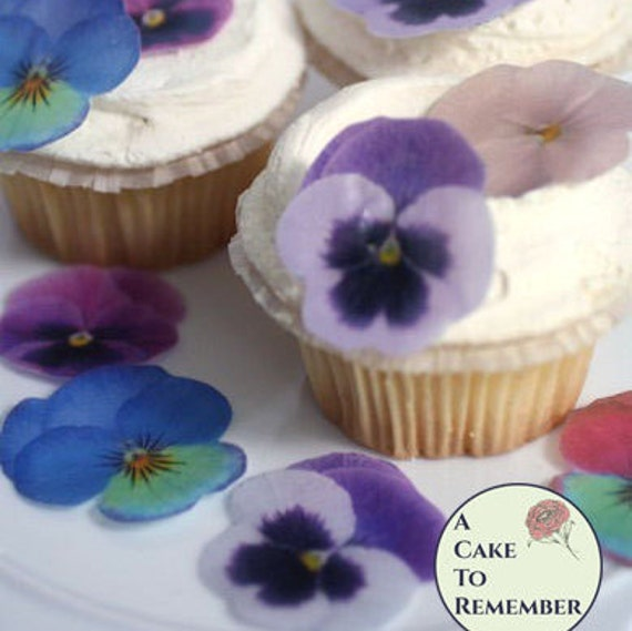 Edible wafer paper pansy for cakes 24 assorted colors pansies 15 edible wafer paper pansy for cakes 24 assorted colors pansies 15 2 wafer paper flower cupcake toppers good for vegan cakes and cookies from mightylinksfo