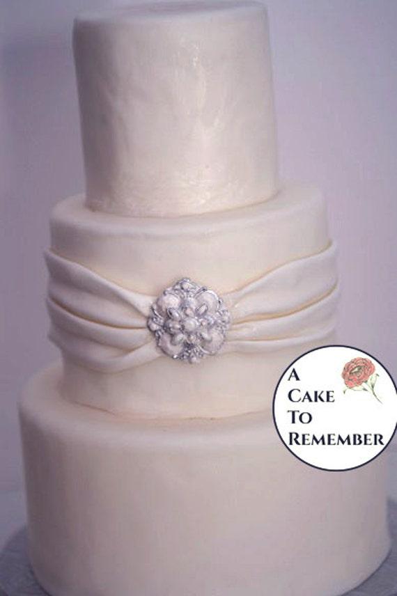 Art Deco Diy Wedding Cake Edible Brooch Wedding Cake Brooch Etsy