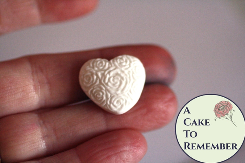 polymer clay or fondant mold for cake or cupcake decorations M5146 34 heart cabochon silicone mold for cake pops Resin heart mold