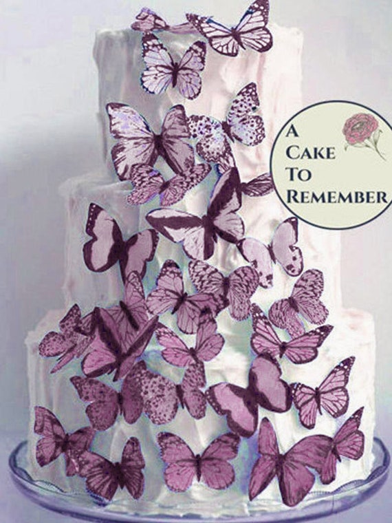 30 Edible butterflies Cake Cupcake BIRTHDAY PARTY  FROZEN BABYSHOWER WEDDING O