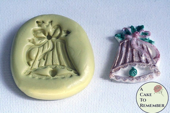 Polymer Clay Christmas Jewelry.1 5 Christmas Bell Silicone Mold For For Cake Decorating