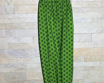 Plastic Bag Holder, Plastic Bag Dispenser, Grocery Bag Holder, Plastic Bag Caddy, Handmade Bag Holder, Green & Black Cotton