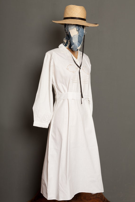 French Work Dress White 20th (M) - image 2