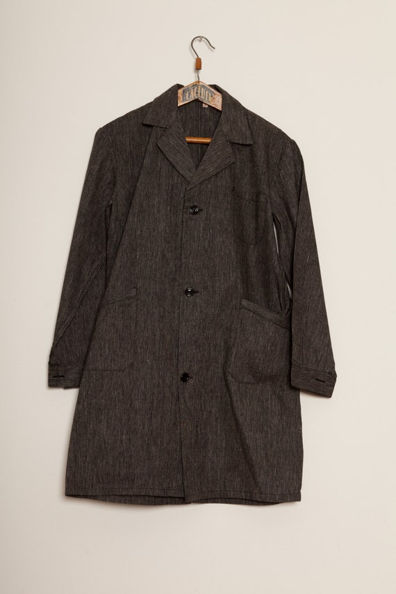 Salt & Pepper Children Blouse Coat School Vintage… - image 1