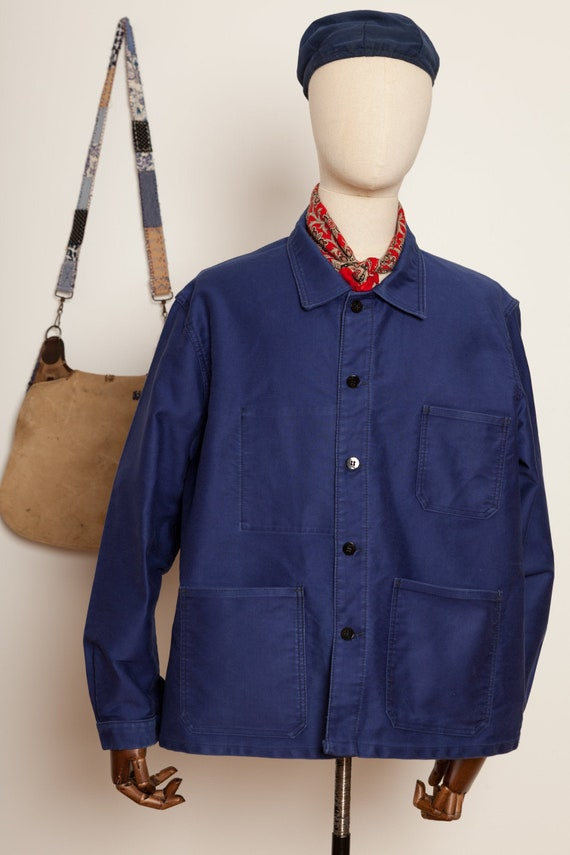 Moleskin French Worker Jacket Indigo (L/XL)