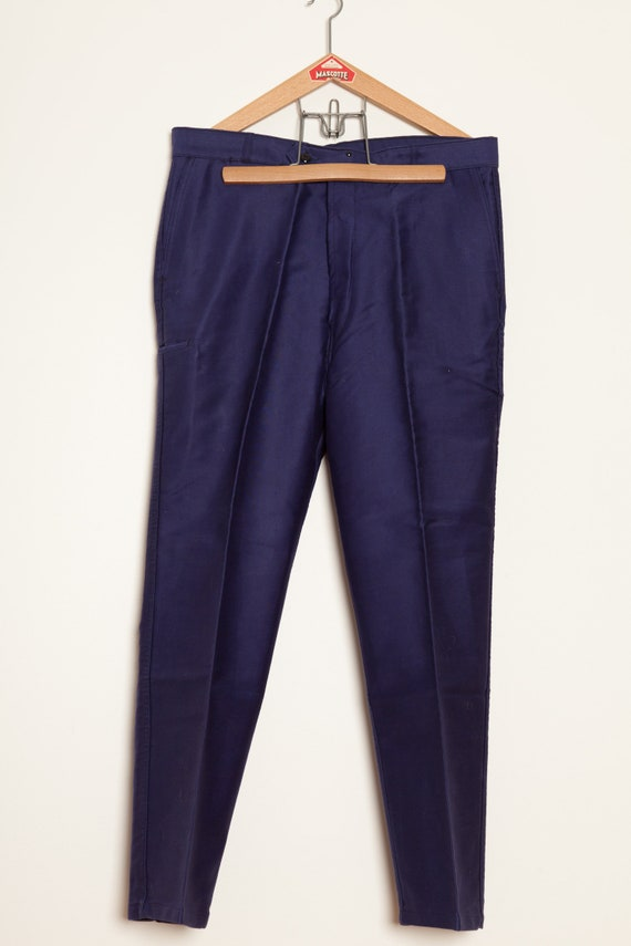 Moleskin French Work Pants Indigo adolphe Lafont (
