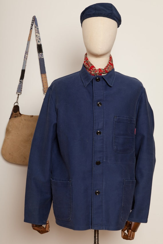Moleskin French Worker Jacket Indigo (XL)