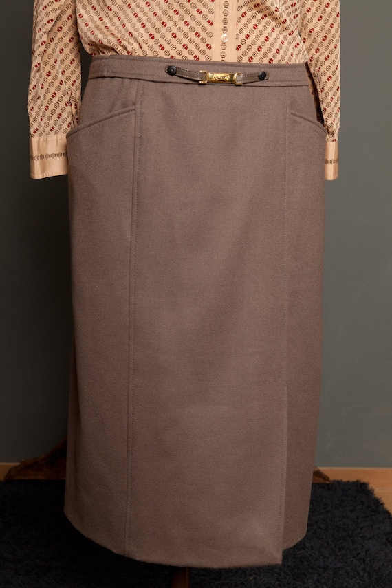 French Skirt Wool Raw (L)