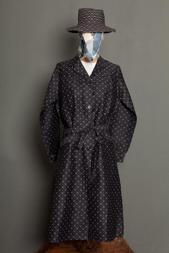 French Women Black Work Dress Coat 50's (M/L)