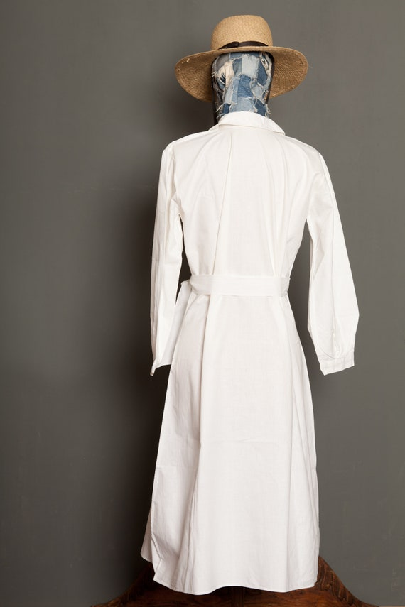 French Work Dress White 20th (M) - image 3