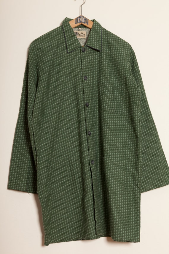 French Night Green Shirt Vintage 60's (M)