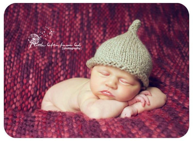 Little Dew Drop Pixie Hat Knitting Pattern  PDF Sale  image 0