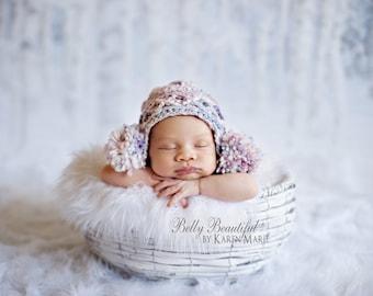 Crochet Earflap Hat Pattern - Baby Earflap Hat Crochet Pattern - Baby Hat Crochet Pattern - Adult Hat Crochet Pattern - Child Hat Pattern