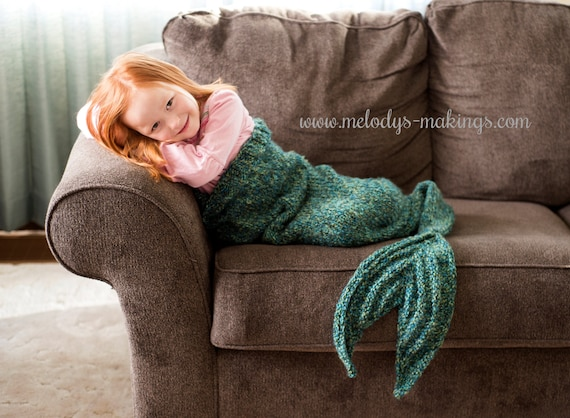 Child Mermaid Tail Lapghan Knitting Pattern Child Mermaid Etsy