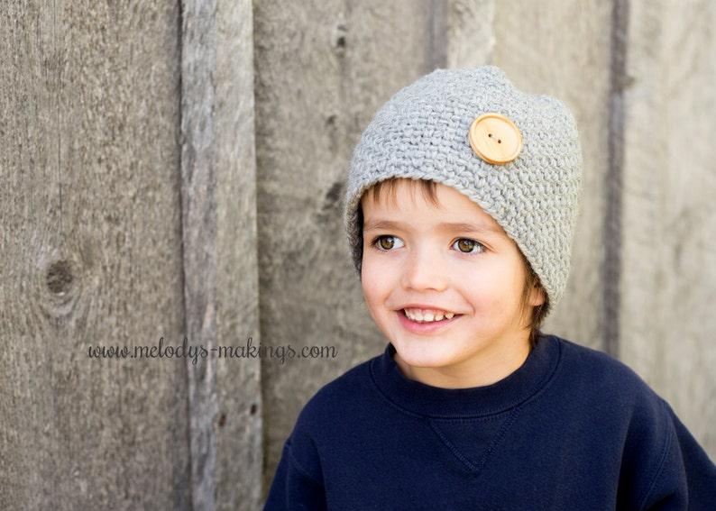 Bubble Button Beanie Crochet Pattern  All Sizes Newborn image 0