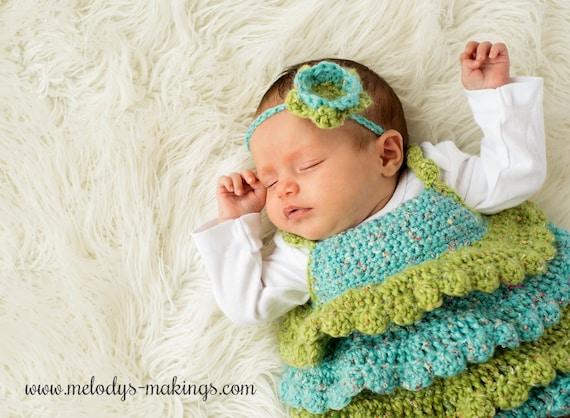 Ruffle Shirt And Rose Headband Crochet Pattern All Newborn Etsy