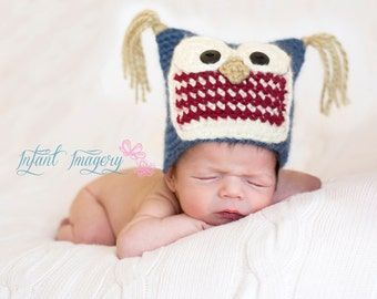 Baby Hoot Hat Crochet Pattern - 5 Sizes Included - Instant Digital Download