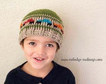 Boys Hat Crochet Pattern - Kid Hat Crochet Pattern - Boy Truck Hat Pattern - Crochet Hat Pattern - Boy Beanie Pattern - Boy Crochet Pattern