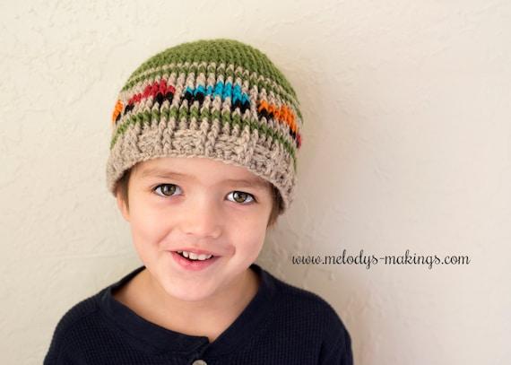 Boys Hat Crochet Pattern Kid Hat Crochet Pattern Boy Truck  b6aea28dfbf