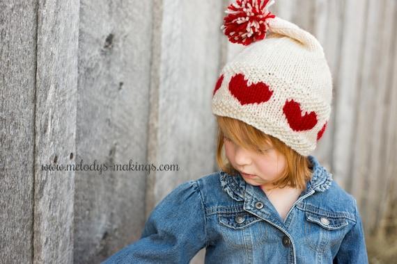 Valentines Day Knitting Pattern Valentines Day Hat Etsy