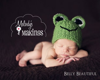 Handsome Hoppy Frog Hat Knitting Pattern - 9 Sizes - PDF Sale - Instant Digital Download