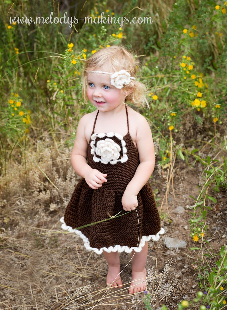 Autumn Lovin' Dress Crochet Pattern  All Newborn Baby image 0