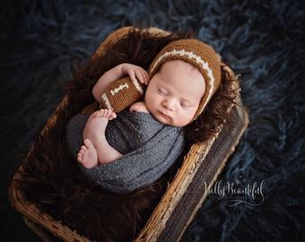 Baby Football Crochet Pattern ~ Baby Boy Photo Prop Crochet Pattern ~ Football Crochet Pattern ~ Football Hat Crochet Pattern ~ Prop Pattern