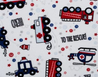1 Yd Minky To The Rescue! Cuddle® Scarlet (Shannon Fabrics) Yardage